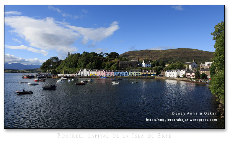 Portree, capital de la Isla de Skye